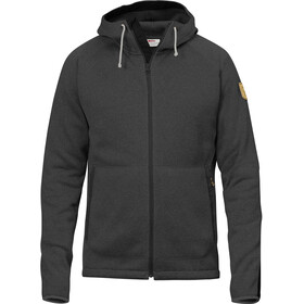 Fjällräven Övik Fleece Hoodie Heren, dark grey